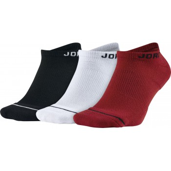 Chaussettes Jordan Jumpman No-show Socks (3 Pair) black/white/gym red | Air Jordan