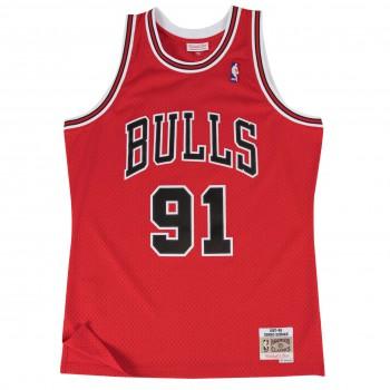 Swingman Jersey - Dennis Rodman  91 Red/black   Mitchell & Ness