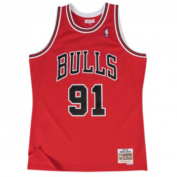 Swingman Jersey - Dennis Rodman  91 Red/black | Mitchell & Ness
