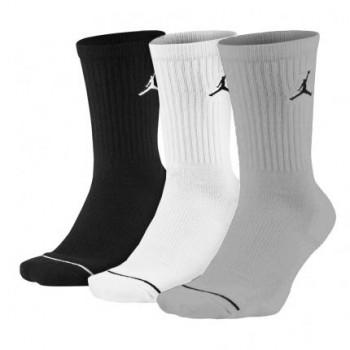 Chaussettes Jordan Jumpman Crew (3 Pack) black/white/wolf grey | Air Jordan