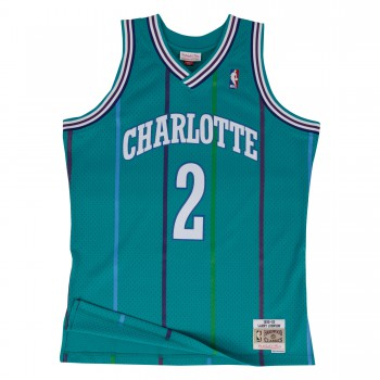 Swingman Jersey - Larry Johnson  2 Teal/white | Mitchell & Ness