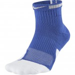 Color  Blue of the product Unisex Nike Elite 1.5 Mid Basketball Sock game...