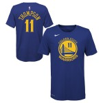 Color  Blue of the product Icon Name & Number Ss Tee Warriors Thompson Klay Nba...