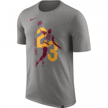 T-shirt Lebron James Cleveland Cavaliers Nike Dry dk grey heather | Nike