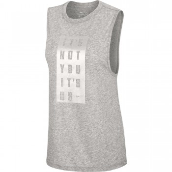 Maillot Femme Nike Dry Its You dk grey heather | Nike
