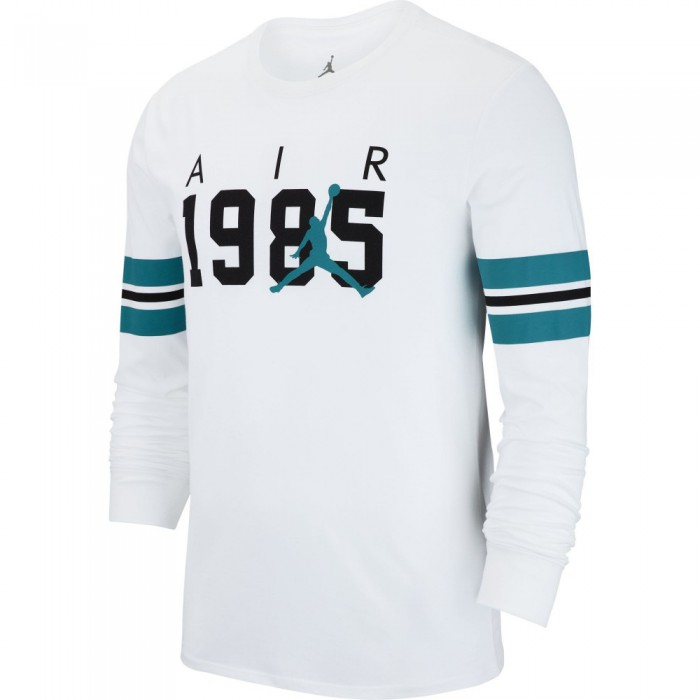 T-shirt Jordan Sportswear Fa Brand 6 white/black/turbo green
