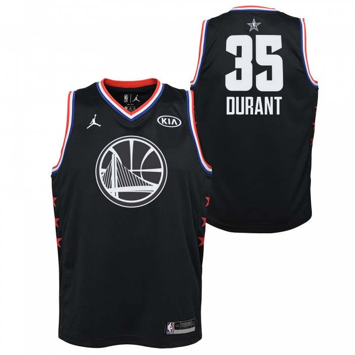 Black All Star Jersey Warriors Durant Kevin Nike