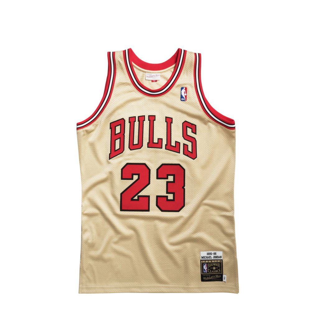 f7557e8ea Maillot NBA Michael Jordan Chicago Bulls Gold Authentic 1995-96 (image n°1