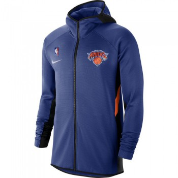 Sweat New York Knicks Nike Therma Flex Showtime rush blue/black/brilliant ornge NBA | Nike