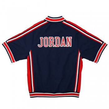 Authentic Warm Up Jacket - Michael Jordan Awjkgs18422-usanavy92mjo-xs | Mitchell & Ness