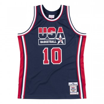 Authentic Jersey Nba - Clyde Drexler Ajy4gs18411-usanavy92cdr-xs | Mitchell & Ness