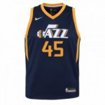Color  Blue of the product Swingman Icon Jersey Player Jazz Mitchell Donovan...