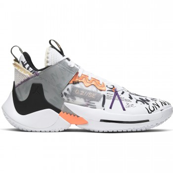"Jordan ""why Not?"" Zer0.2 Se white/orange pulse-black-particle grey 