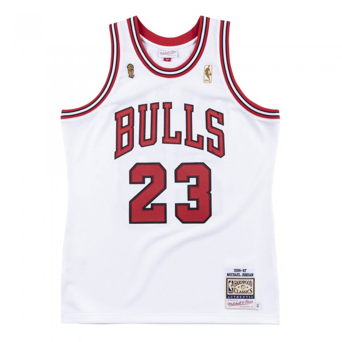 Authentic Jersey '96 Chicago Bulls Ajy4cp19013-cbuwhit96mjo-2xl NBA