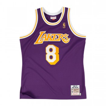Authentic Jersey '96 La Lakers Ajy4gs18092-lalpurp96kbr-2xl NBA | Mitchell & Ness