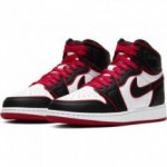 Boys' Air Jordan 1 Retro High Og (gs) Shoe black/gym red-white (image n°2)