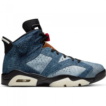 Air Jordan 6 Retro washed denim/black-sail-varsity red | Air Jordan