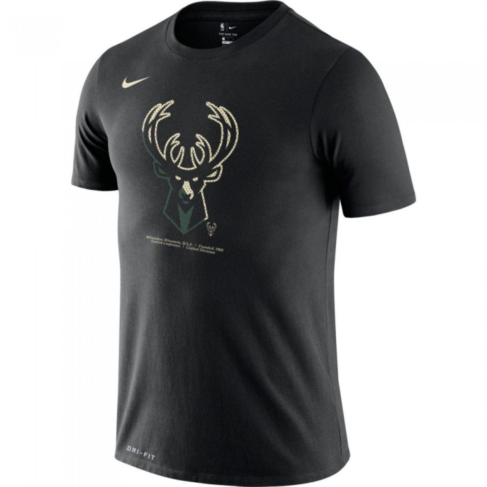 T-shirt Milwaukee Bucks Nike Dri-fit black NBA