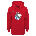 Color  Red of the product Hoodie Po Club Fleece Ce Kings Nba Nike