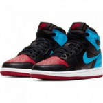 Jordan 1 High Og (ps) black/dk powder blue-varsity red-white (image n°11)