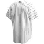 New York Yankees Mlb Nike Official Replica Home Jerseywhite  Navy Winning (image n°4)