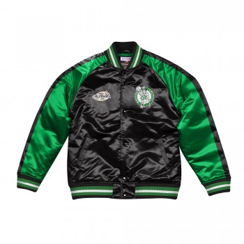 Color Blocked Satin Jacket | Mitchell & Ness