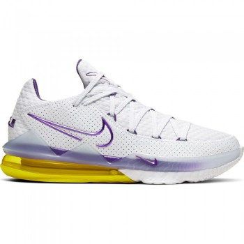 Lebron 17 Low white/voltage purple-dynamic yellow | Nike