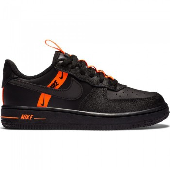 Nike Force 1 Lv8 Ksa black/black-total orange | Nike